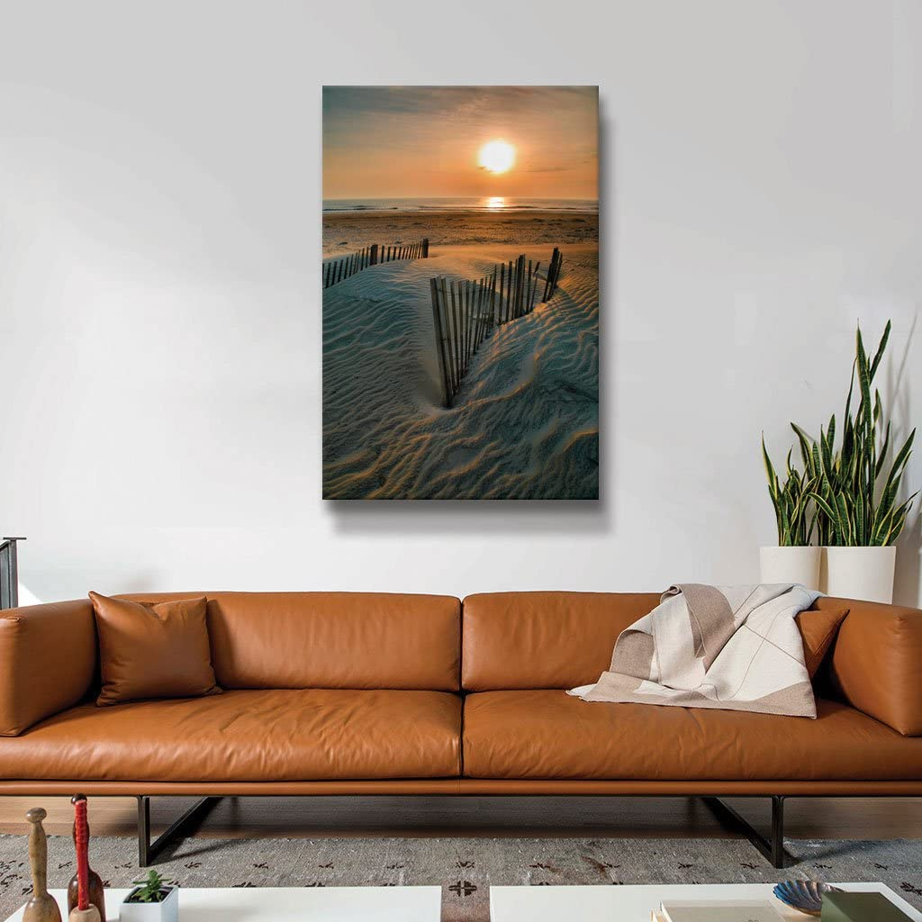 ArtWall Sunrise Over Hatteras Gallery Wrapped Canvas Artwork by Steve Ainsworth 32 by 24-Inch The Art Wall Sain-036-32x24-w
