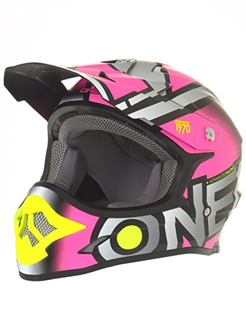 Amazon.com: ONeal 3 Series Womens Radium Helmet (Gray/Pink/Hi-Viz, XX-Large): Automotive