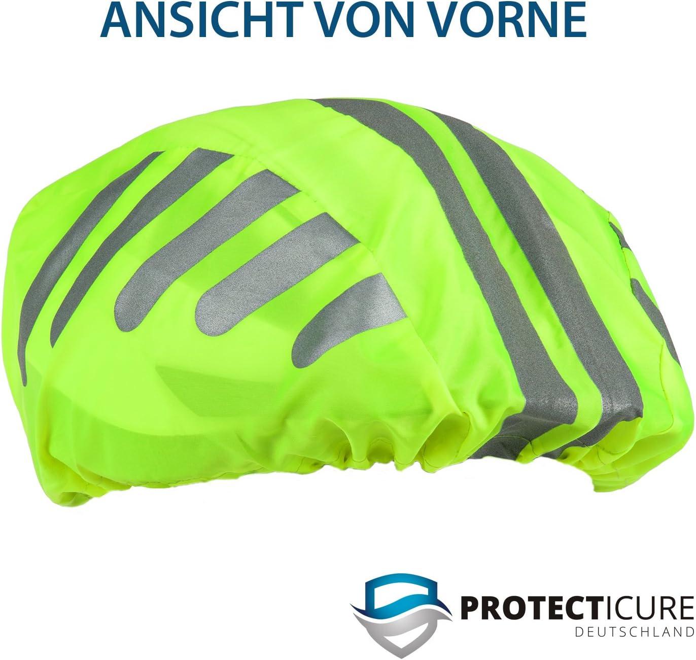 Regenschutz 360° Rund-Um-Reflekto Hochwertiger Helmüberzug für den Fahrradhelm