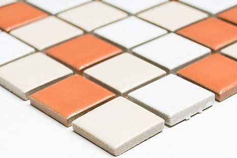 Rete mosaico piastrelle a mosaico quadrato mix bianco crema