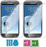 2x »Samsung Galaxy S3« Panzerglas Displayschutzfolie | Blasenfrei | Ultra-HD | Bruchsicher | Rytek Panzerglasfolie ►lebenslange Garantie