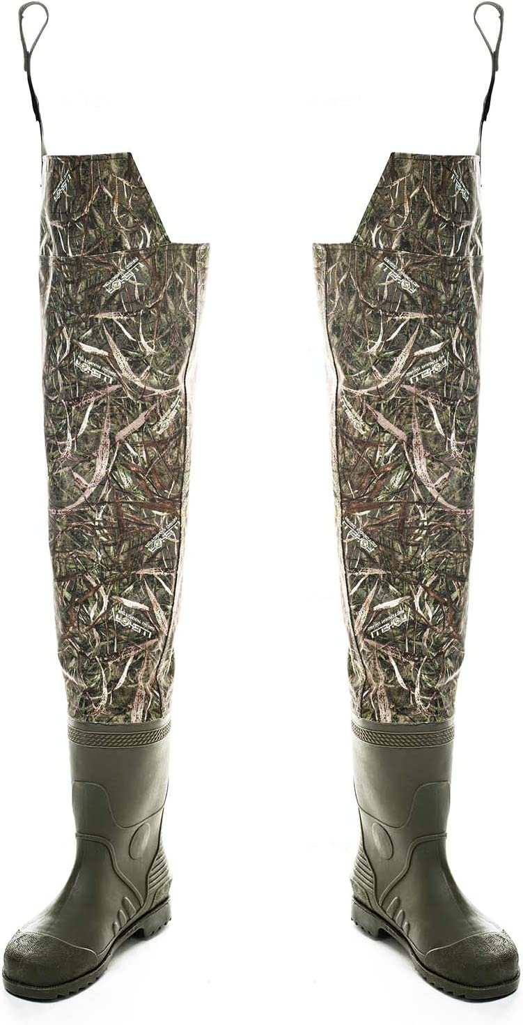 Use for Foxelli Neoprene Chest Waders Camo Fishing Waders for Men with Boots