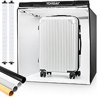 Yorbay Fotostudio set 80 x 80 x 80 cm CRI 95+ LED-fotobox lichtkubus professionele fotografie lichttent incl. 4 PVC…