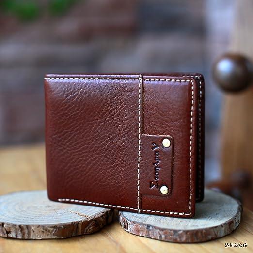 Monedero de cuero, de cuero hechos a mano, cartera, nueva ...