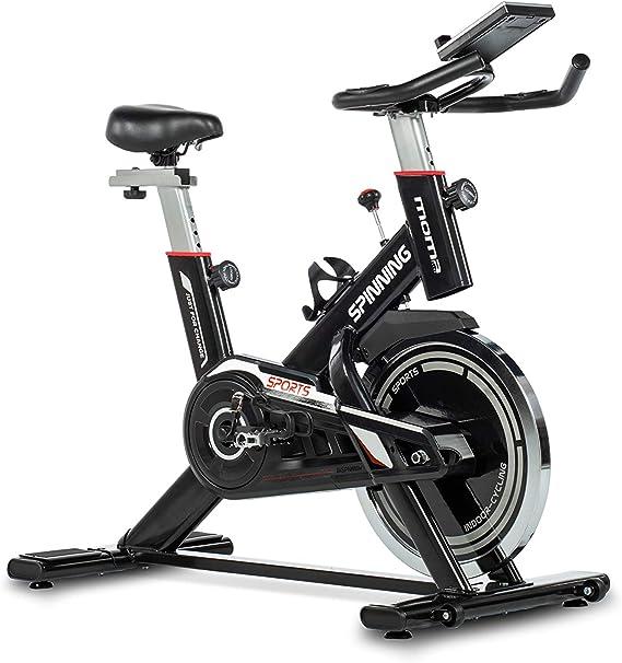 Moma Bikes - Bicicleta Spinning con Volante de Inercia de 24 kg, Negro: Amazon.es: Hogar