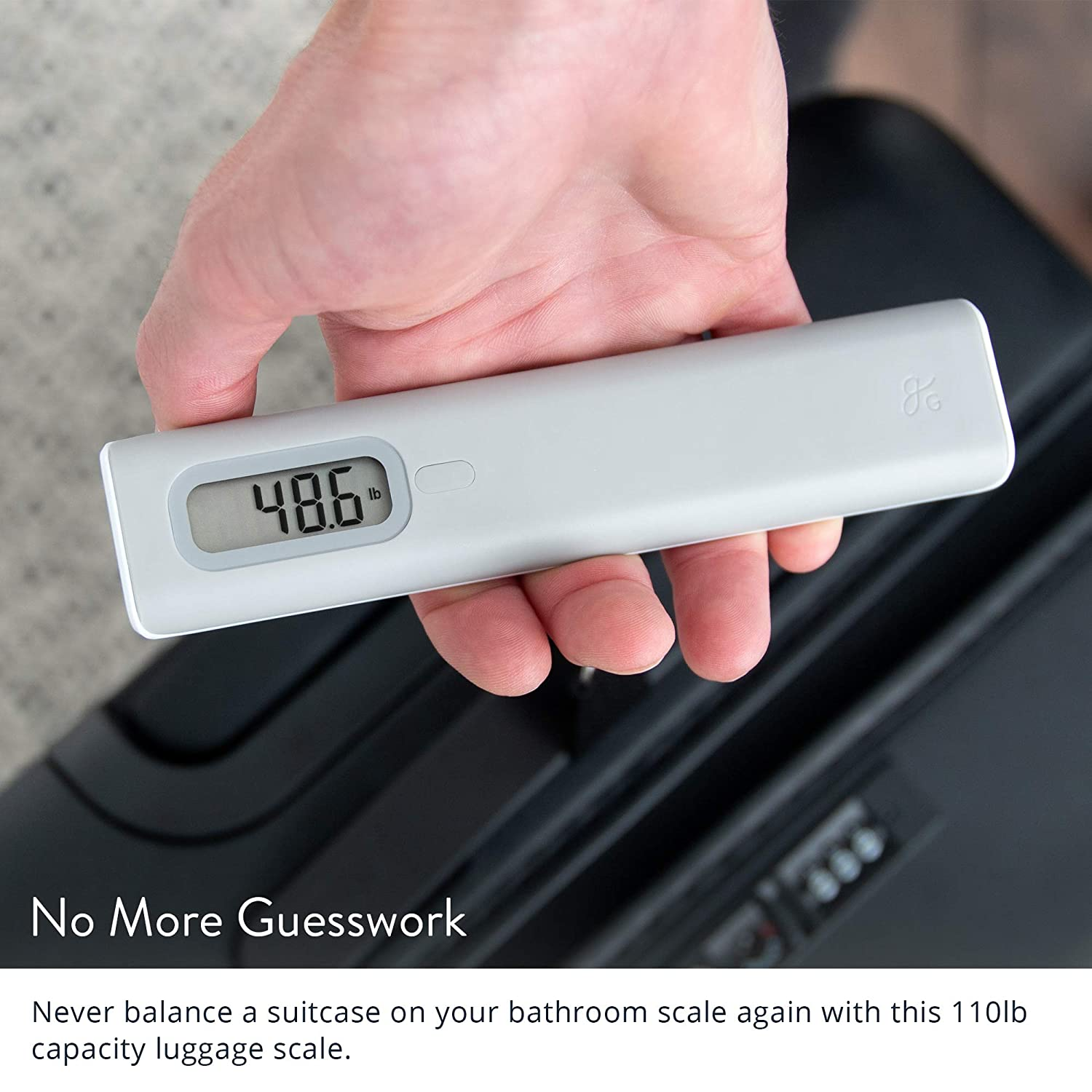 GreaterGoods Digital Luggage Travel Scale 110 Pound 50 Kg Capacity