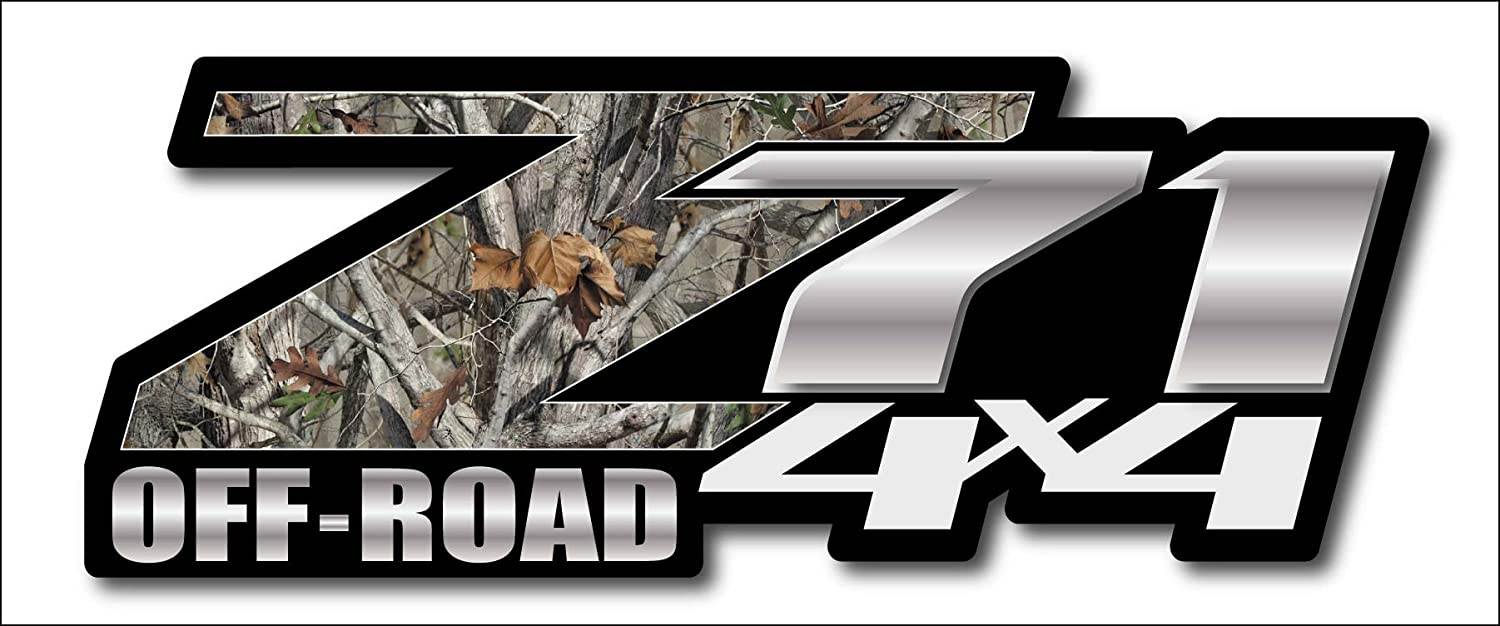 Amazon com camo chevy z71 4x4 decals set of two gmc off road sports outdoors
