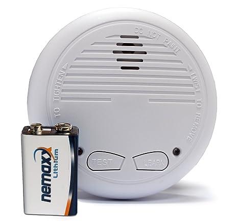 4 x detector de humo - detector de humos con batería de litio ({10