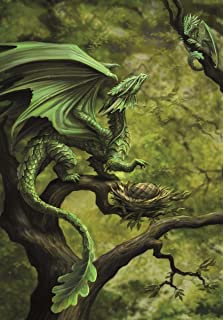 Age of dragons fire dragon draco ignis fantasy art anne stokes age of dragons forest dragon draco saltus fantasy art anne stokes greeting card m4hsunfo
