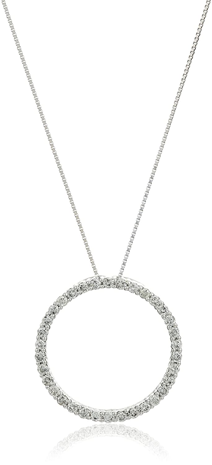 Amazon 14k white gold diamond circle of life pendant necklace amazon 14k white gold diamond circle of life pendant necklace 18 jewelry aloadofball Gallery
