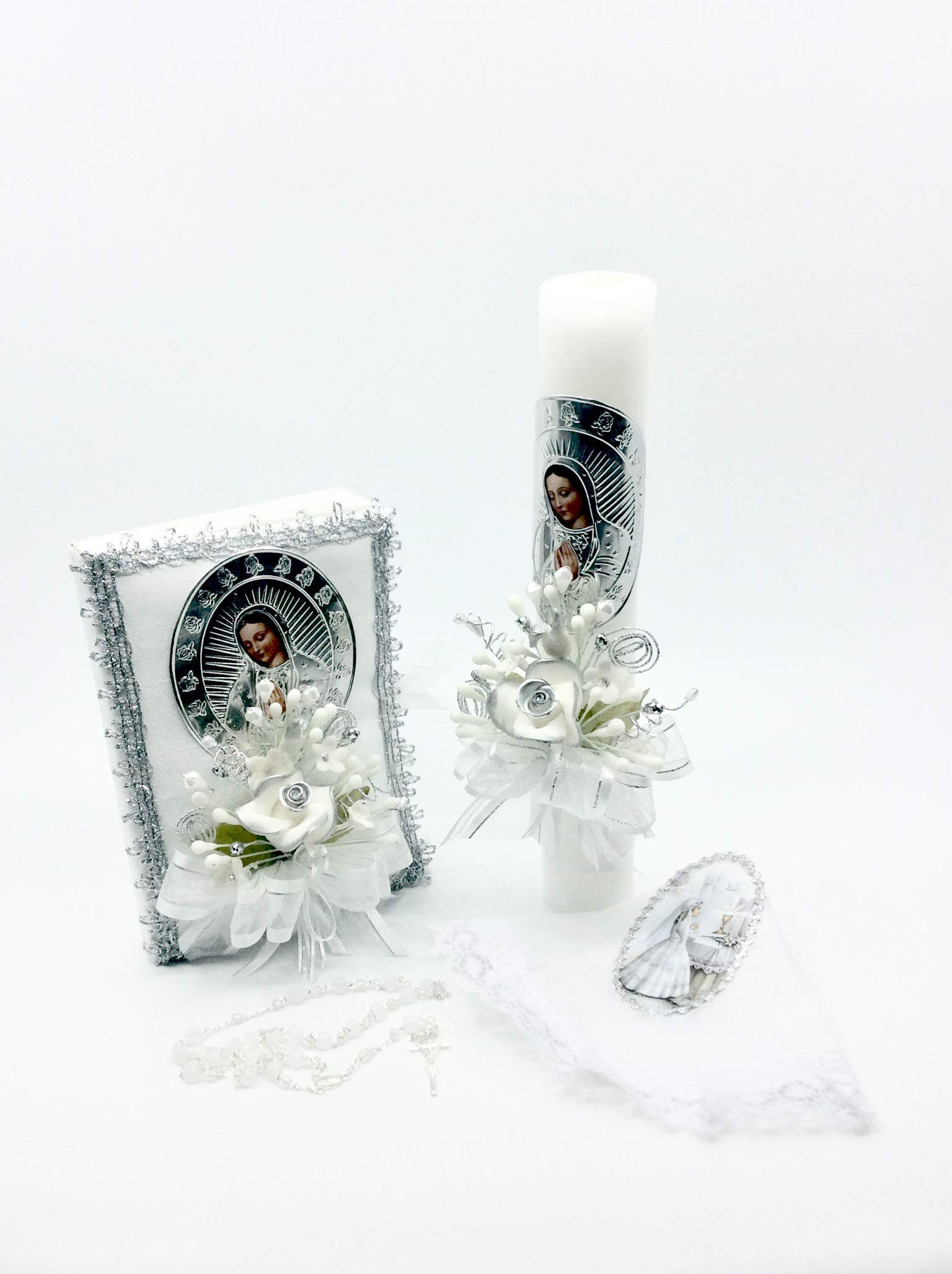 Casa Ixta First Communion Candle Lady of Guadalupe Image by Casa Ixta (Image #3)
