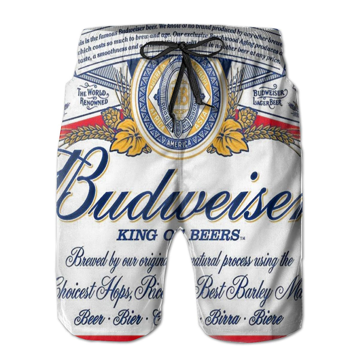 89c470d6f7 Amazon.com: Men's Beach Shorts Budweiser Beer Logo Summer Quick Dry Swimming  Pants: Clothing