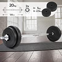 Physionics Barra de musculación de Pesas 20 kg