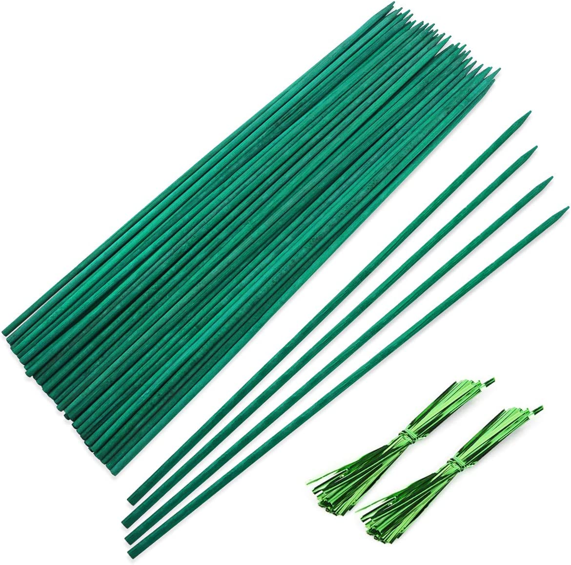 SKPPC 50 PCS Garden Wood Stakes, Floral Plant Support Garden Stakes, Wooden Sign Posting Garden Sticks for Plants, 12 Inch