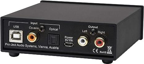 Pro Ject Pre Box S2 Digital Audiophiler Stereo Vorverstärker Schwarz Audio Hifi