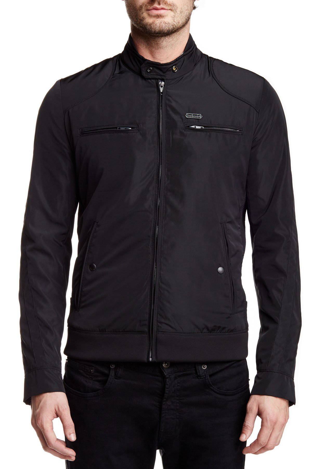 Diesel Men's Jeffir-R Jacket (XL, Black)