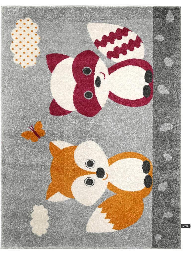 Benuta Kinderteppich Best Friends Orange 120x170 cm   Teppich für Spiel- und Kinderzimmer