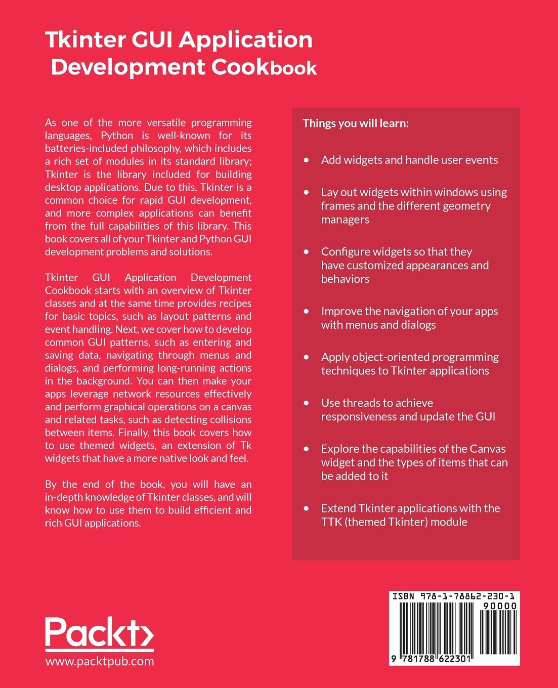 Tkinter GUI Application Development Cookbook: A practical solution