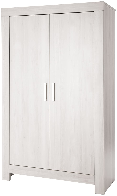 Pinolino Kleiderschrank Pepper, eleganter, 2-türiger Kleiderschrank, Esche grau, Maße 109 x 56 x 189 cm (Art.-Nr. 14 00 47)