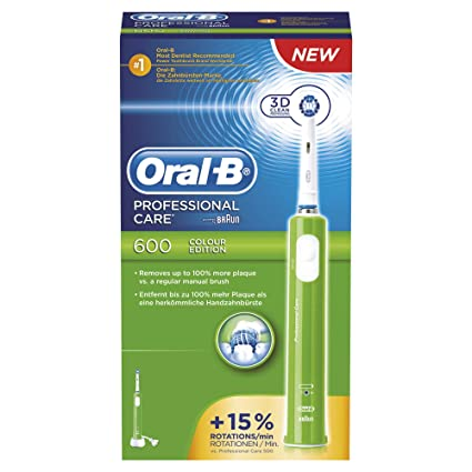 Oral-B Professional Care 600 Floss Action - Cepillo dental eléctrico, limpieza 3D,