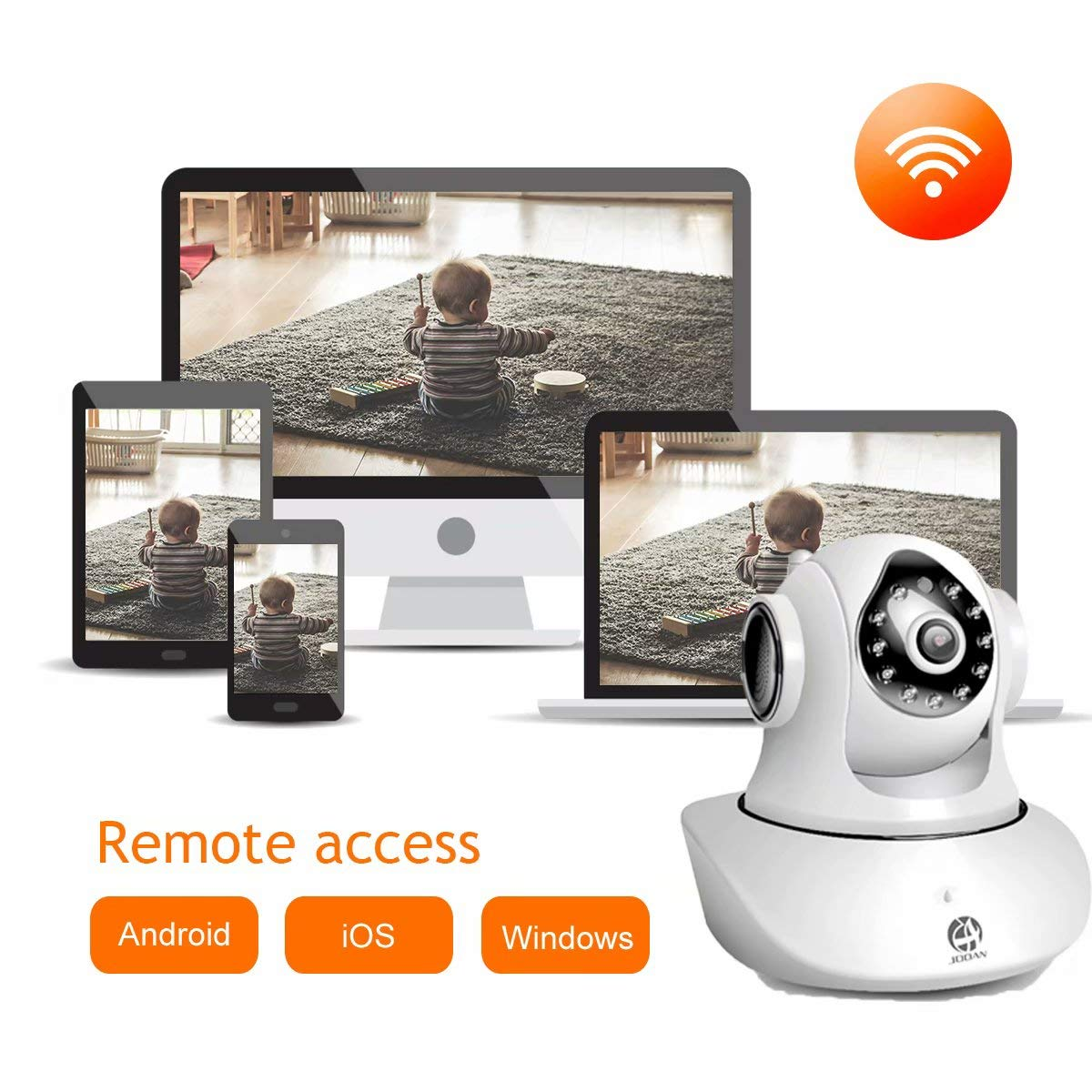 JOOAN WiFi Security Camera Wireless IP Camera with Two-Way Audio Night Vision 720P Camera for Pet Baby Monitor by JOOAN (Image #7)