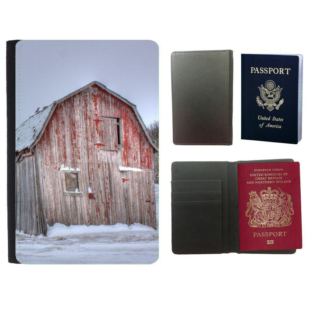 Passeport Voyage Couverture Protector // F00000110 granero viejo cobertizo campo rojo de // Universal passport leather cover: Amazon.es: Electrónica