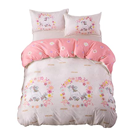 Rainbow Unicorn Bedding Set Single Kids Bedding Set Girl Duvet Cover Print King Duvet Picture Bedding Sets Cartoon Home Textile Making Things Convenient For Customers Home Textile Bedding