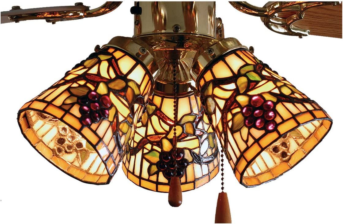 Meyda Tiffany 67013 Meyda Tiffany 67013 4 W Jeweled Grape Fan Light Shade