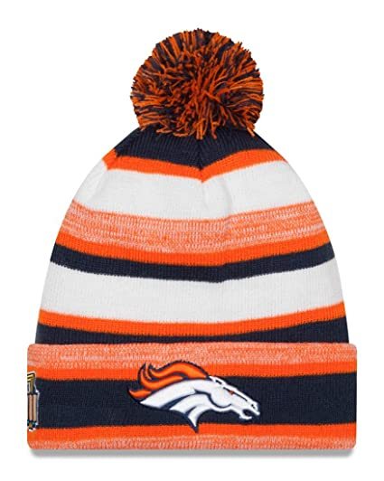 499d61ce0b848d Image Unavailable. Image not available for. Color: Denver Broncos New Era  NFL Super Bowl XXXIII Logo Striped Sport Knit Hat