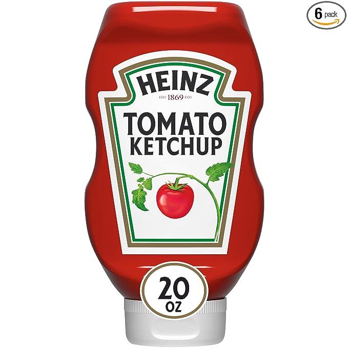 Flacon /à soupe de tomate Heinz officiellement homologu/é avec couvercle /à vis et cuill/ère en m/étal