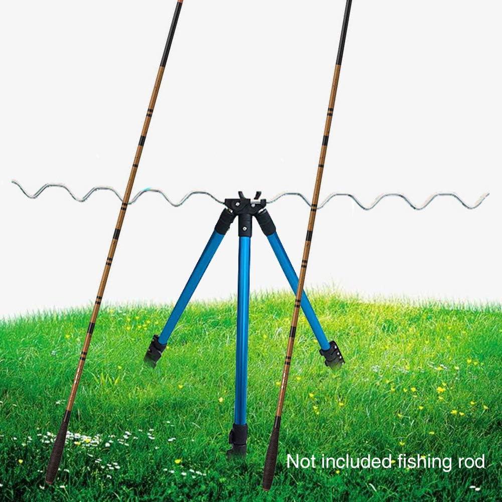 Matedepreso Aluminum Telescopic Beach Fishing Tripod Rod Rest Stand Fishing Rod Holder for Sea Beach Shore Pier Tackle