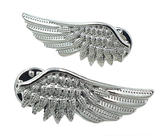 bd9a1e5dbd74 Amazon.com  Meta-U Vintage Angel Wings Metallic Shirt Collar Tips ...
