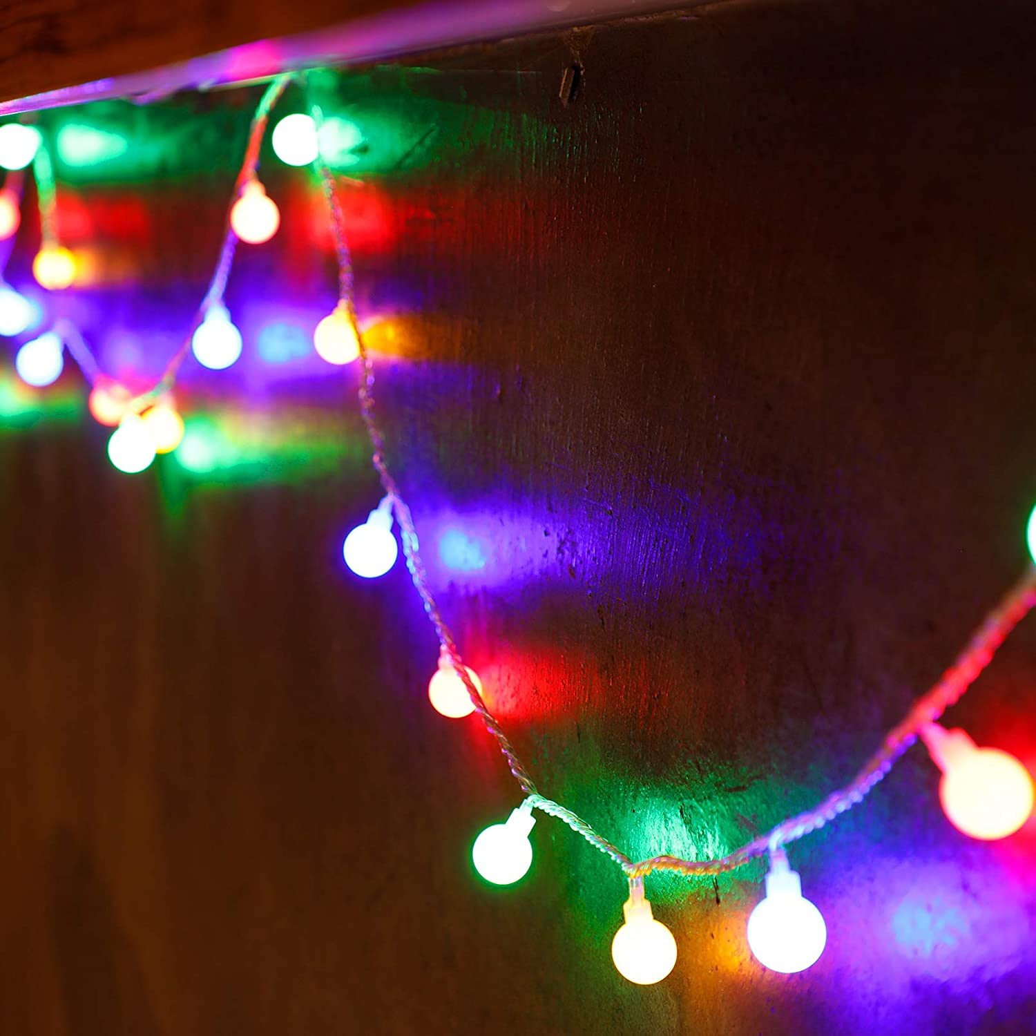 TORCHSTAR Fairy String Lights, Plug-in, 33ft 100 LEDs, Globe Ball String Light 8 Lighting Modes, Indoor Outdoor Garden, Patio, Christmas, Party, Wedding Decorations, Multi-Colored
