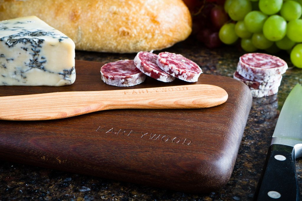 Earlywood Small Spreader Set - Handmade Hardwood 4-Piece Cheese Serving Set - Bloodwood, Hard Maple, Jatoba, Mexican Ebony by Earlywood (Image #2)