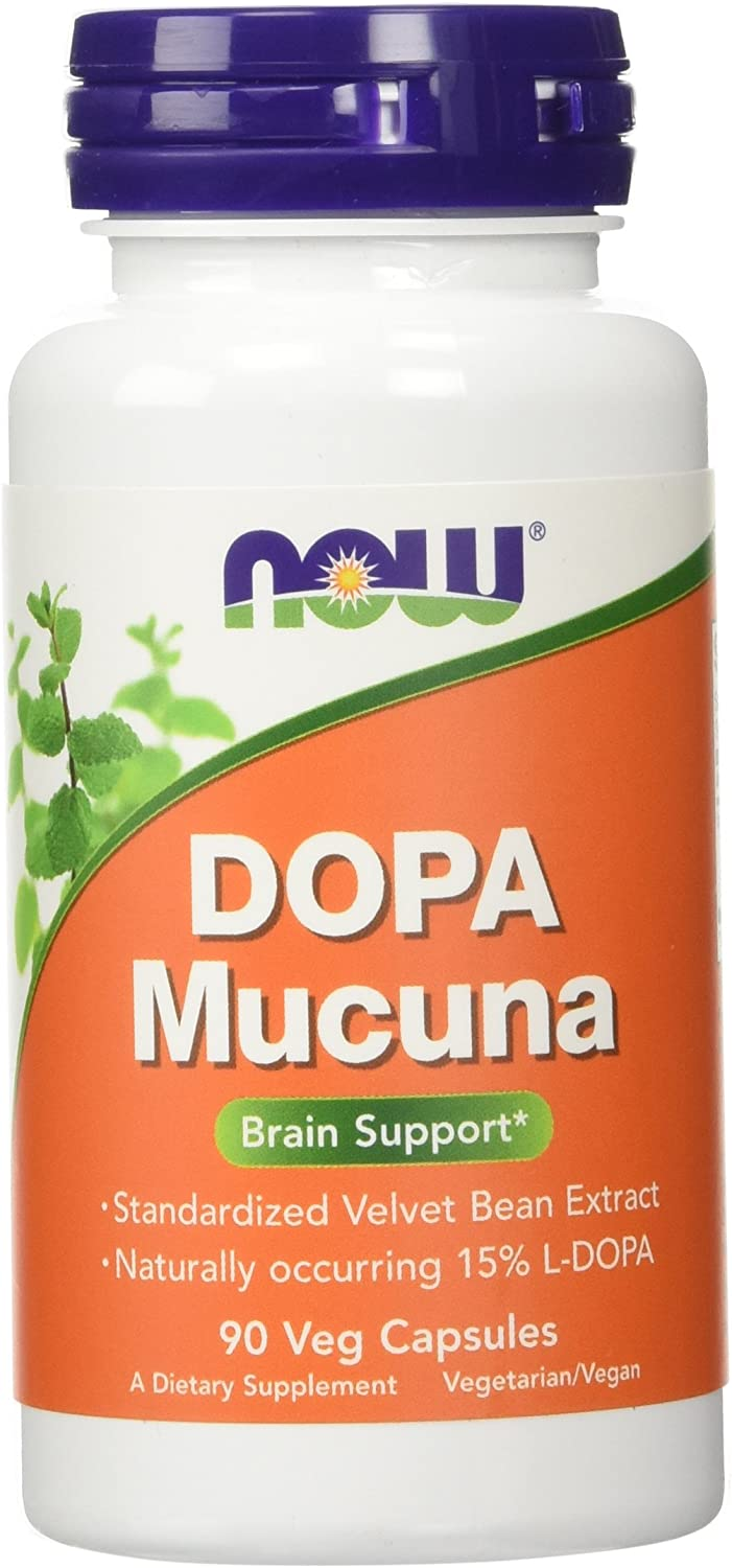 NOW Foods Dopa Mucuna Mood Support 15% L-Dopa, 180 Vcaps (90 x 2 Pk)