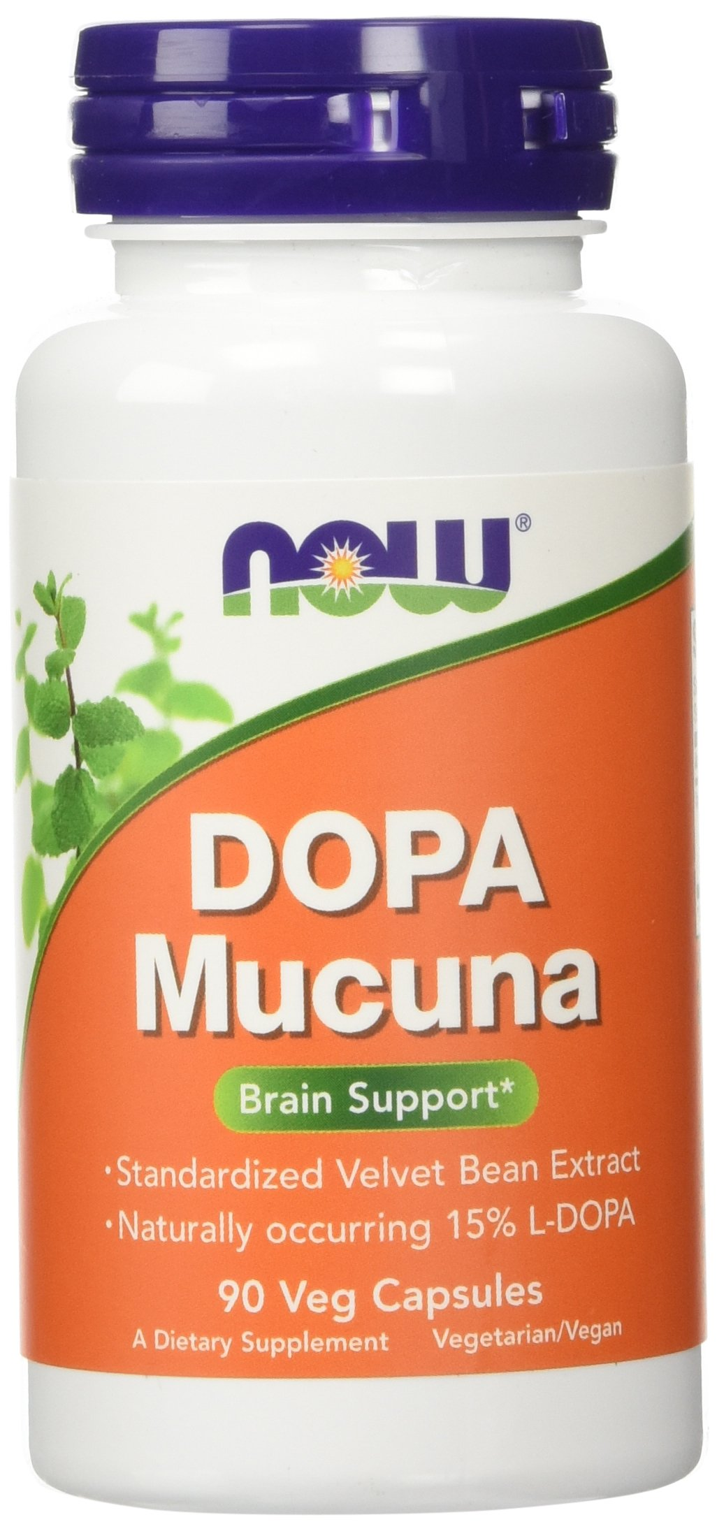 NOW DOPA Mucuna,90 Veg Capsules