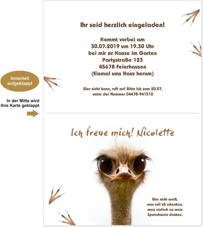 20 Karten Unser-Festtag Schr/äger Vogel zum Geburtstag Erwachsene Mann Frau f/ür jedes Alter