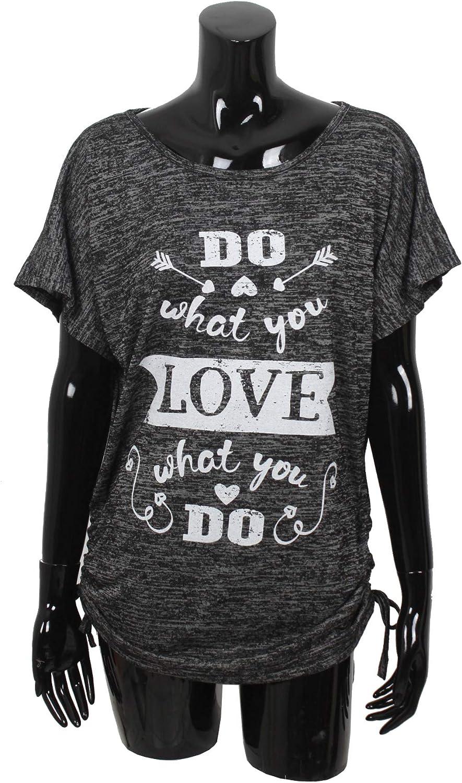 Emma /& Giovanni Haut T-Shirt Manche Courte imprim/é pour /ét/é Fabriqu/é en Italie - Femme