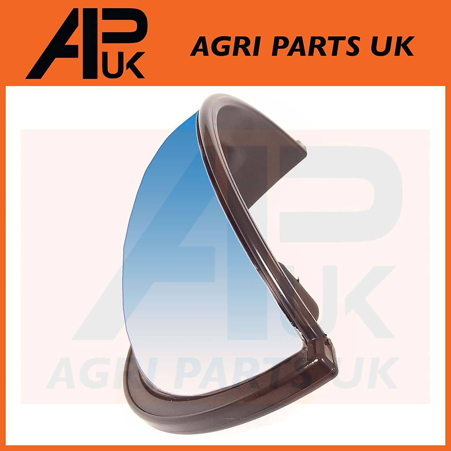 APUK NEW Universal Fish eye Mirror Head Curved with Clamp Tractor Plant Digger Lorry