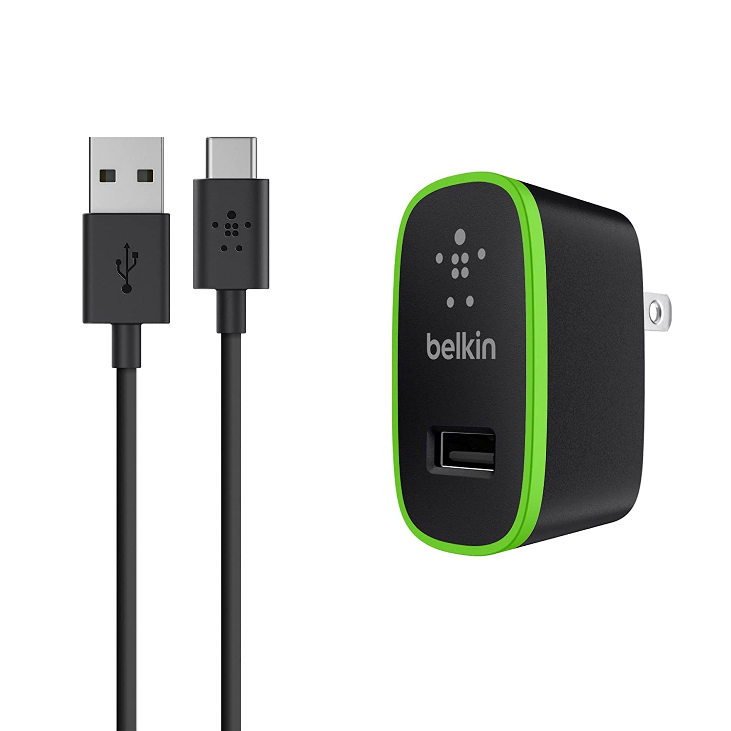 Amazon.com: Belkin Universal Wall Charger + 6-Foot USB-C Cable (USB ...