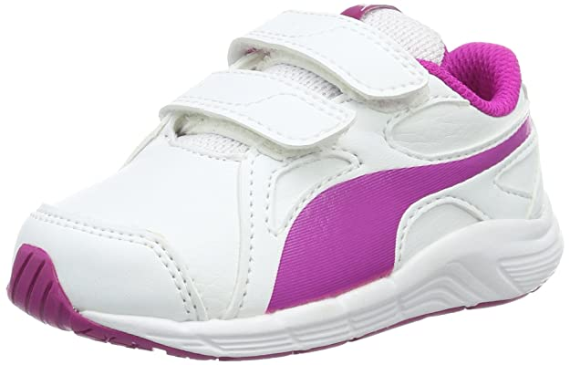 Puma Unisex-Kinder Engine V Inf Low-Top, Weiß White-Ultra Magenta 03, 26 EU