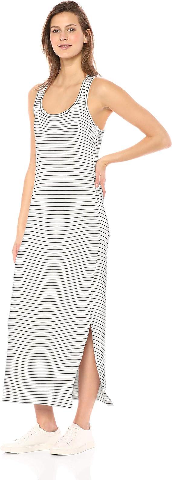 Marca Amazon - Daily Ritual - Maxi vestido de algodón terry súper ...