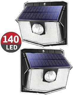 18LEDS Solarleuchte LED Solarlampe mit Bewegungsmelder Wandleuchte Außen Sensor