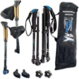 York Nordic Ultralight Folding Walking Poles - Travel Ready - 8.6 oz Each, 15.5 in collapsed, with Rubber Feet, Baskets…