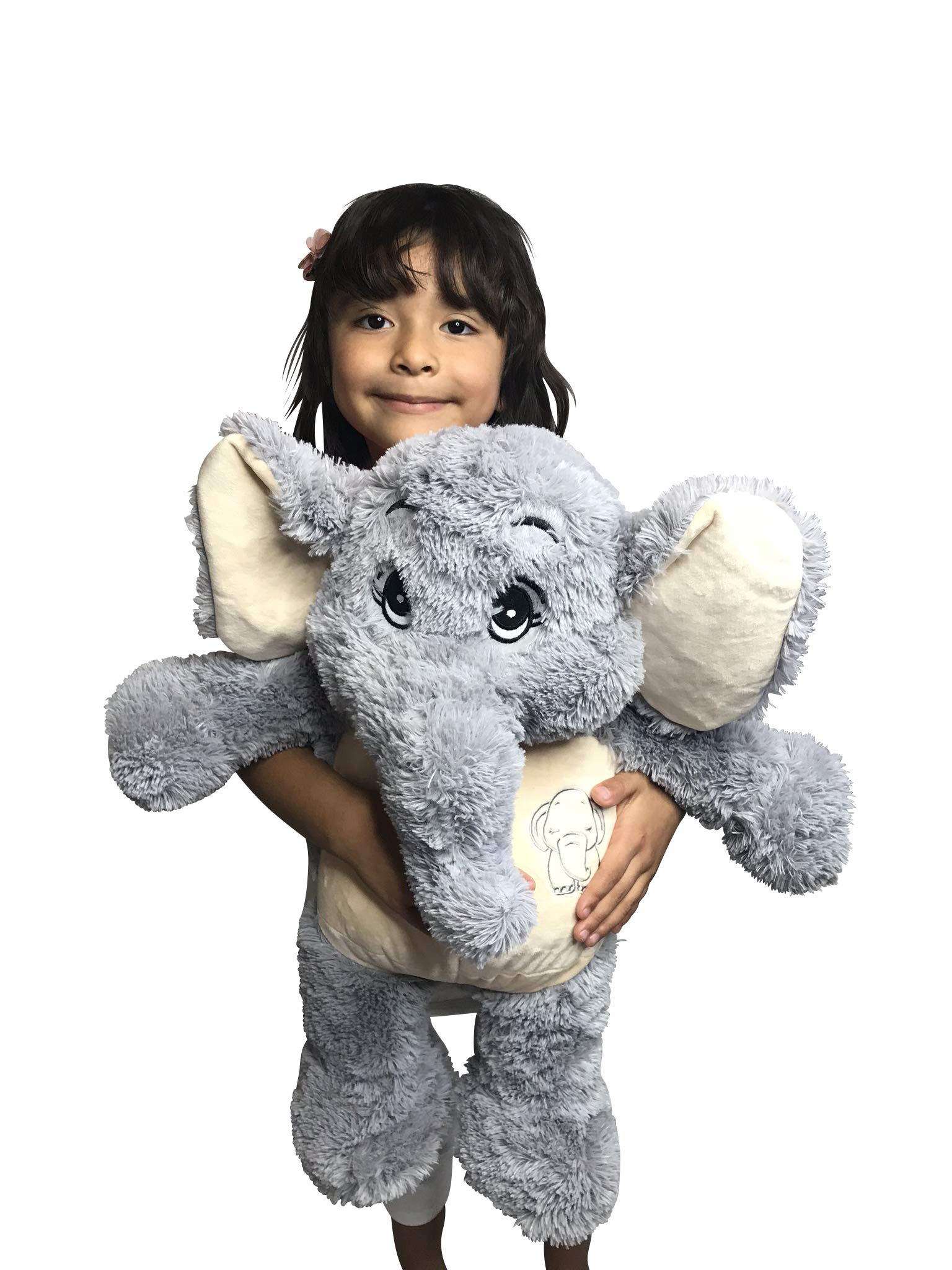 ECEJIX 24'' XL Elephant Stuffed Animal Plush Toys Gifts for Kids by ECEJIX