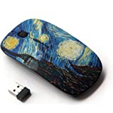 KOOLmouse [ Optical 2.4G Wireless Mouse ] [ Gogh Starry Night Art Painting ]