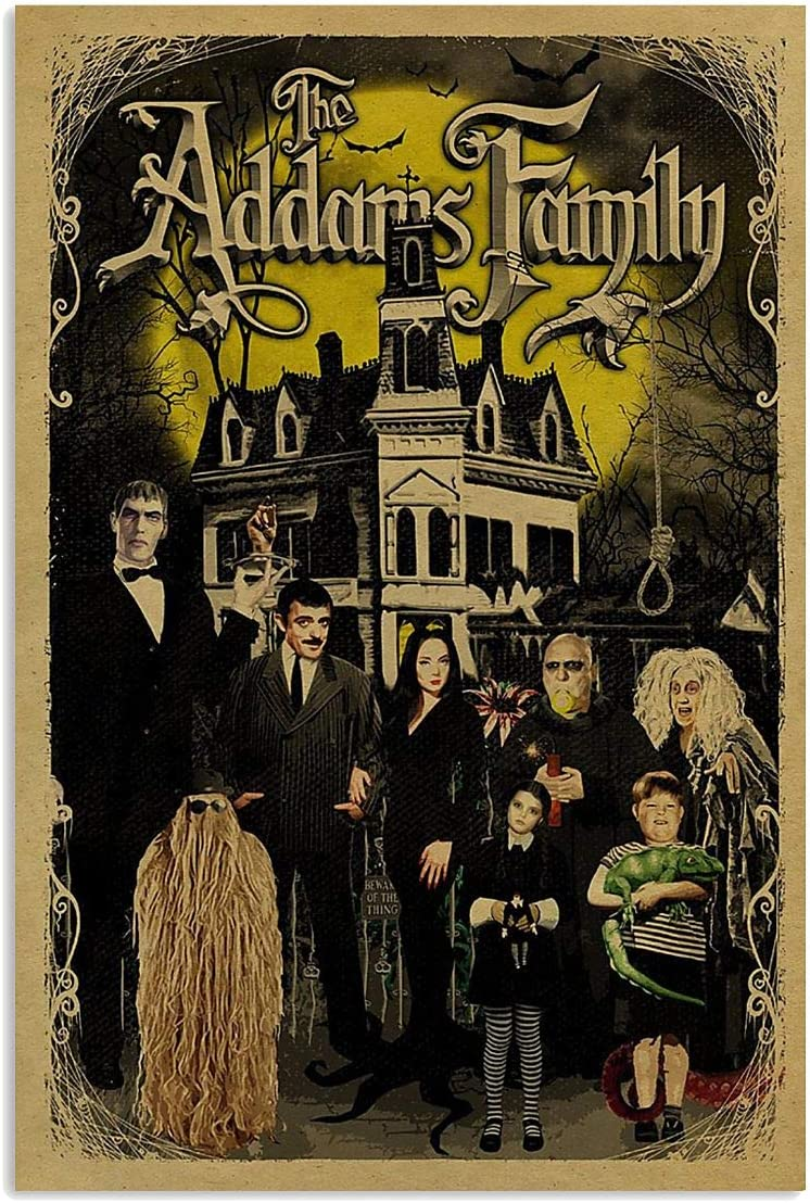 N/ The Addam Family Movies Poster Wall Art Print Painting Home Decor Gifts for Lovers Poster