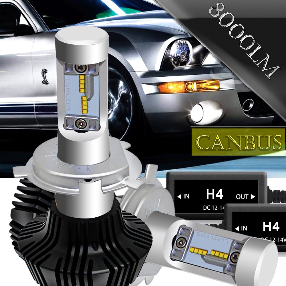h4 led headlight bulb hi lo 9003 hb2 conversion kit with. Black Bedroom Furniture Sets. Home Design Ideas