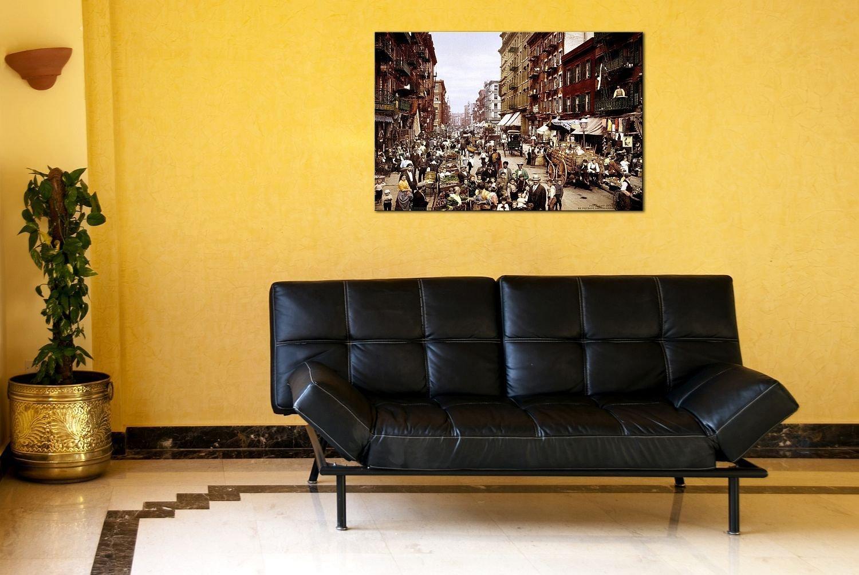 Amazon.com: Startonight Wall Art Canvas NYC Mulberry Street 1900 ...