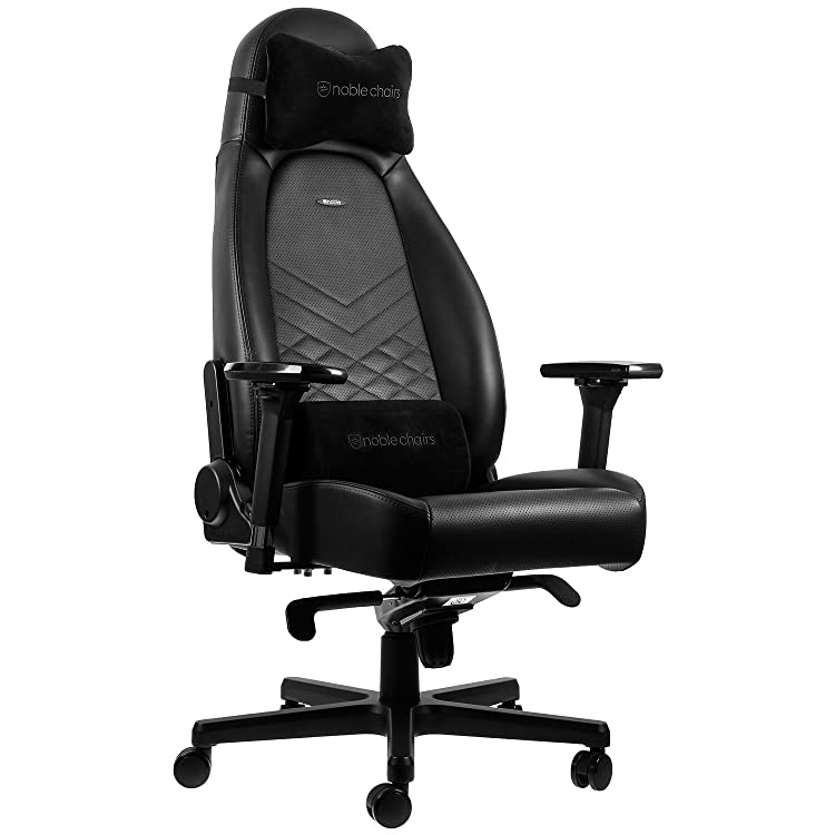 This chair comes with both a neck and lumbar cushion, which instead of using the traditional strap method